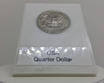 Coin Ring Punch Card-Punch and the-USA-quarter