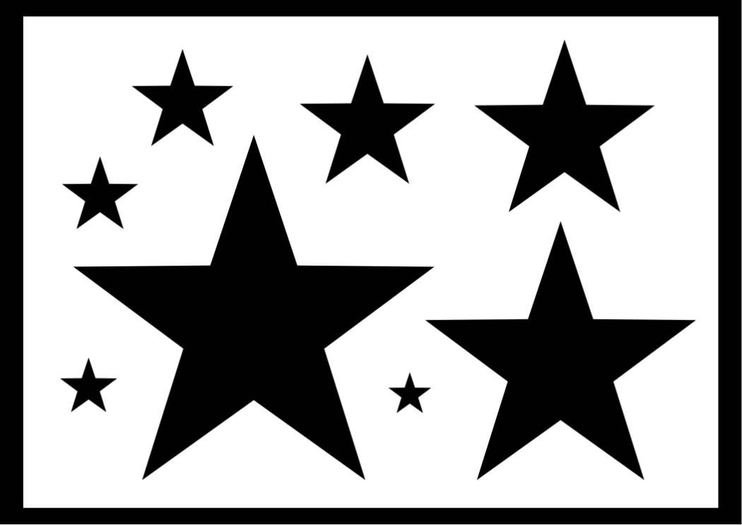 Stars stencil various sizes reusable 8 various sizes for Arts and crafts stencils craftsman