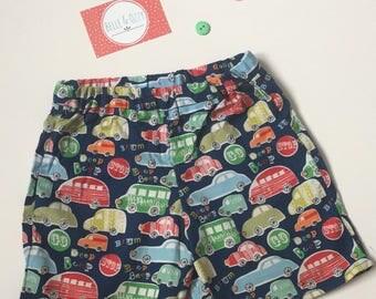 Childrens Car Shorts