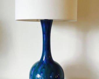 Vintage Drip Glaze Table Lamp attr. to Haeger