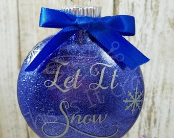 Christmas Ornament - Personalized Ornament - Let It Snow