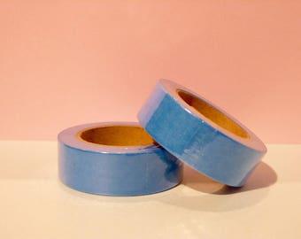 Masking tape washi Tape neon Blue - Christmas gift - packaging - decoration - wedding