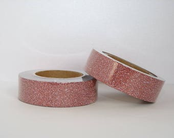 Glitter Washi Tape with red - glitter