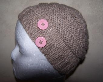 child Hat hand knitted alpaca wool