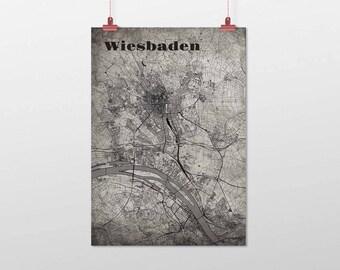 Wiesbaden - A4 / A3 - print - OldSchool