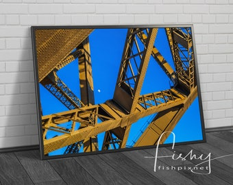 Sydney Harbour Bridge Rivets Digital Download, Professionally shot limited edition image. Sydney Harbour, Sydney Sunrise, Harbour Bridge