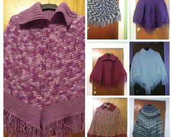 Handmade Crochet Ponchos