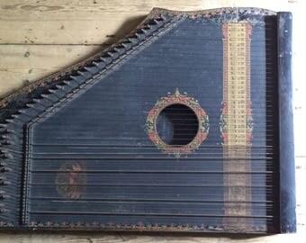 Antique/Vintage All Original Menhenzuars Guitar Zithar dated May 29, 1892