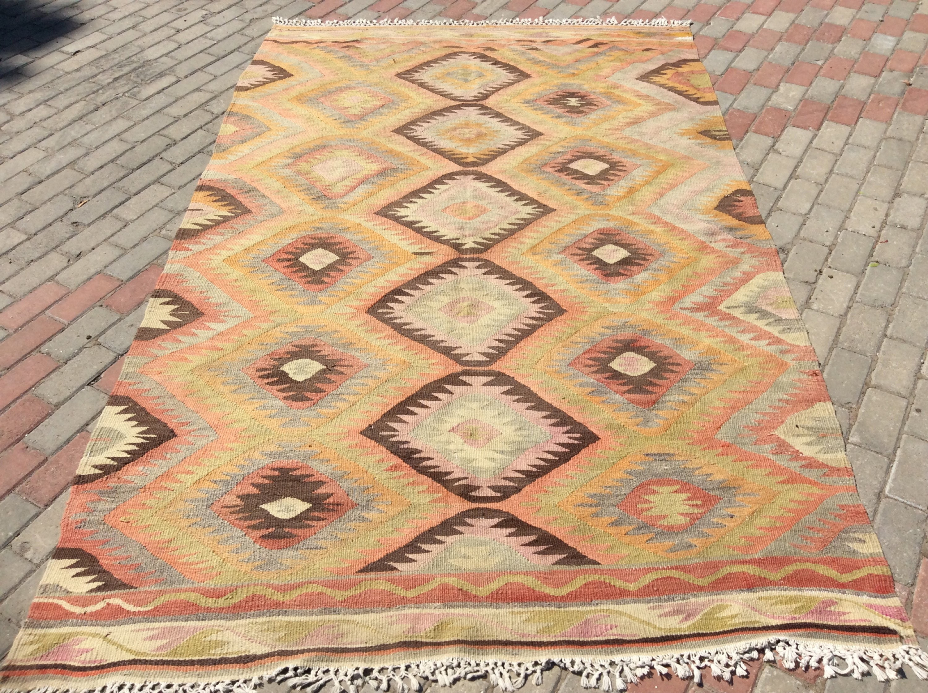 fringes wool vegetable turkey turkish dyed the pin woven rugs rug hand be kilim removed can konya spun in request new area and upon with