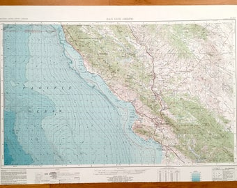 Antique Los Angeles California US Geological Survey - Us geological topographic maps
