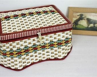 Vintage Sewing Box/ Sewing Storage & Organisation/ Sewing Basket/ Sewing and Needlecraft/Haberdashery/ Sewing (007J)