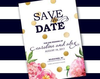 Peony + Confetti Save the Date