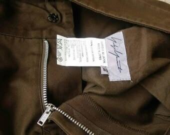 Yohji Yamamoto Cotton Waist 30 Vintage Rare Designer Fashion Y's Yohji Comme des Garçons Junya Watanabe Issey Miyake Pants Japan 2
