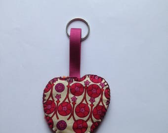 Hand felted heart shaped keyring