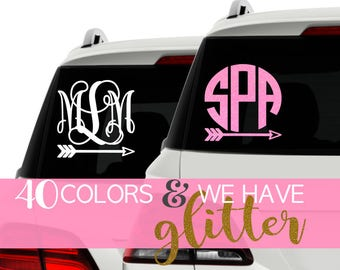 Monogram Decal Car Etsy - Monogram decal on car
