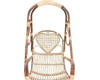 Macrame Swing Chair Handmade Canning Indian Style Beautiful Design Indoor/Outdoor Hammock / Swing Chair / Hanging chair