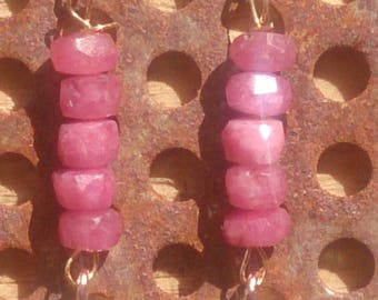 Ruby Earrings plated gold