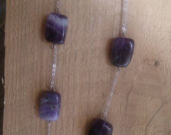Silver plated Amethyst necklace