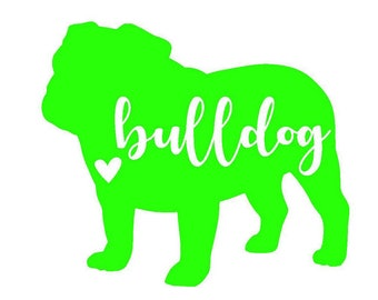 Bulldog Decal | Dog Decal | Pet Decal | Personalized Decal | Yeti Cup | Window Sticker | Laptop Decal |