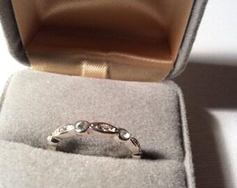 Dainty Silver Tone Ring
