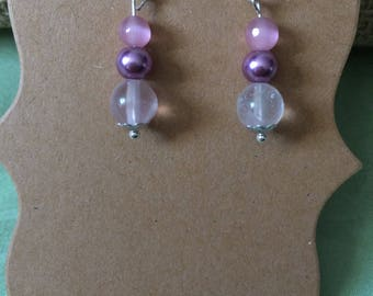 Pink and mauve earrings