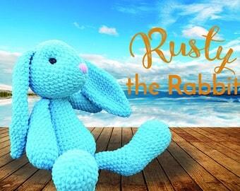 Rusty The Rabbit BIG and Cuddly - PDF Crochet Pattern