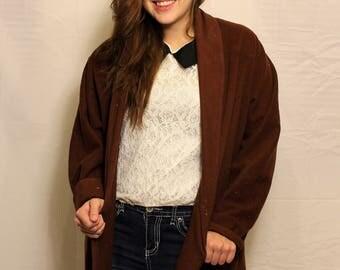 Vintage Maroon Wool Coat