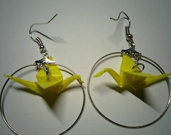 """""""Birds in flight"""" earrings in hoop (G_017)"""