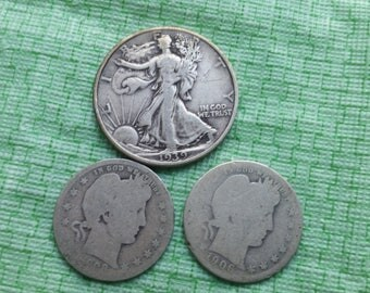 Old US  silver coins  #O648B