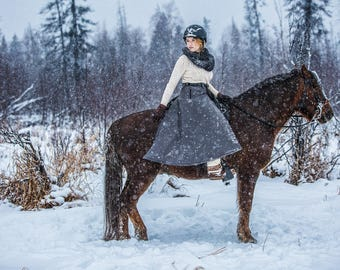 Winter Riding Skirt Insulated Waterproof Equestrian Outerwear Narrow Style Gifts for Horse Lovers Alternative to Snow Pants