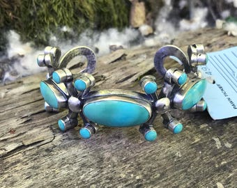 50s Mod Inspired  Navajo turquoise Cuff  bracelet