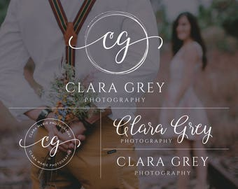 Business Logo Design, Photography Logo, Premade Logo, Blog Branding Kit Design, Mini Branding, Calligraphy Logo, Blog Header, Initials Logo
