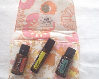 Essential oil pouch, essential oils, essential oil case, essential oil bag, oil pouch, oil storage, essential oil storage, doTerra