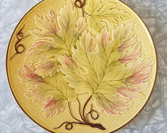 Majolica Plate – Hand-Painted – Baden, Germany – Very Fine Vintage Condition
