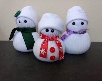 Miniature Sock Snowman