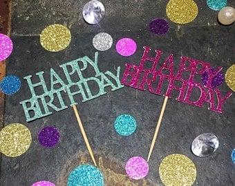 Happy Birthday Cupcake Toppers/Birthday Cupcake Toppers/Bold Birthday Cupcake Toppers