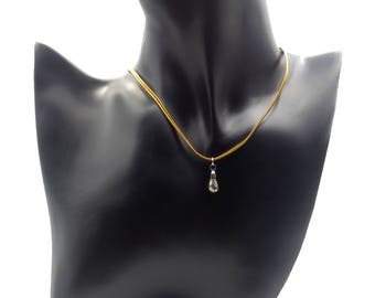 Necklace with drop of Pyrite