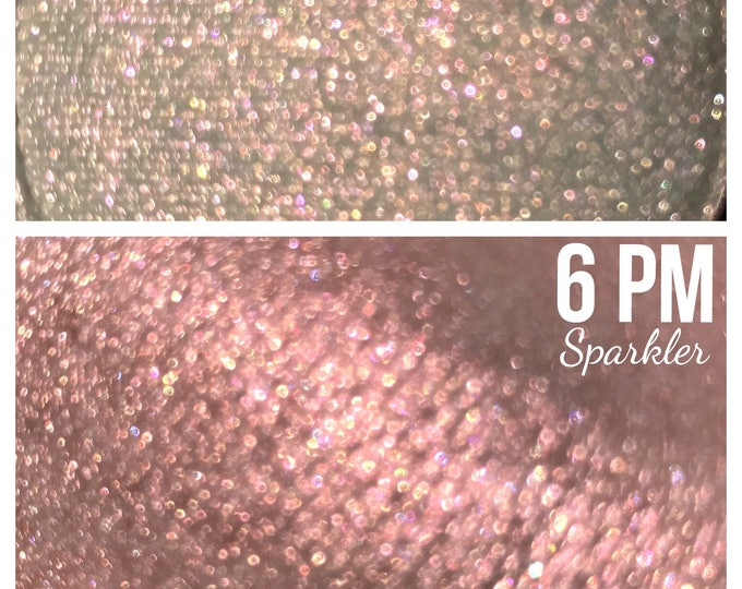 6 PM - Sparkler - iridescent sunset red / orange/ copper - sparkly highlighter/ eyeshadow/ body glitter