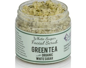 Green Tea Facial Scrub | Homemade, Organic, All-Natural Sugar Scrub made without chemicals or preservatives