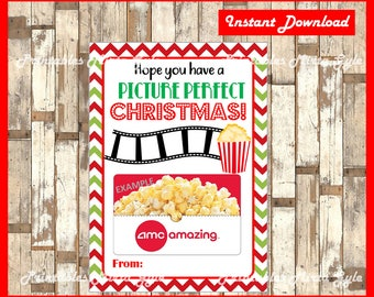 Picture Perfect Christmas Card. Perfect Card for Movie Gift Certificate! Movie Themed Christmas Gift, Instant Digital Download