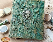 Spell book -  Witch - Green - Gothic journal - notebook - Gift for her - A5