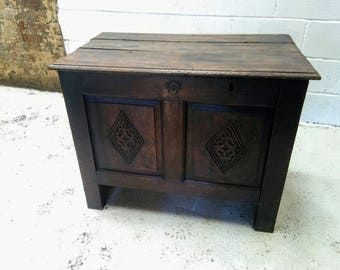 17th/18th Century Carved Oak Coffer