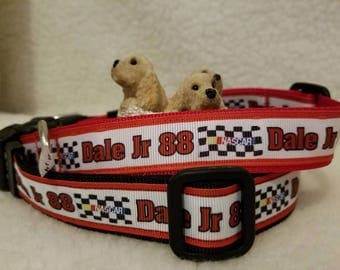 Dale Jr Handmade Dog Collar 1 Inch Wide Medium Only