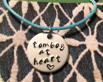 Tomboy at heart necklace