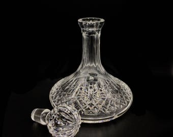 Waterford style Cut Crystal Whiskey Decanter or Liquor Container