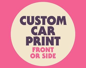 Custom Car Illustration Poster Art Print