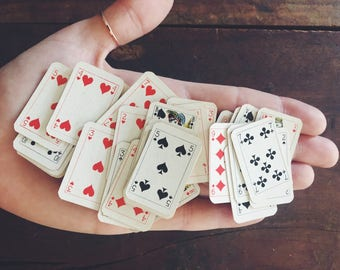 """Vintage """"Pure Gold Leaf Virginia Cigarettes"""" Tiny Playing Cards"""