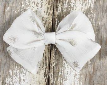 White Chiffon sailor bow