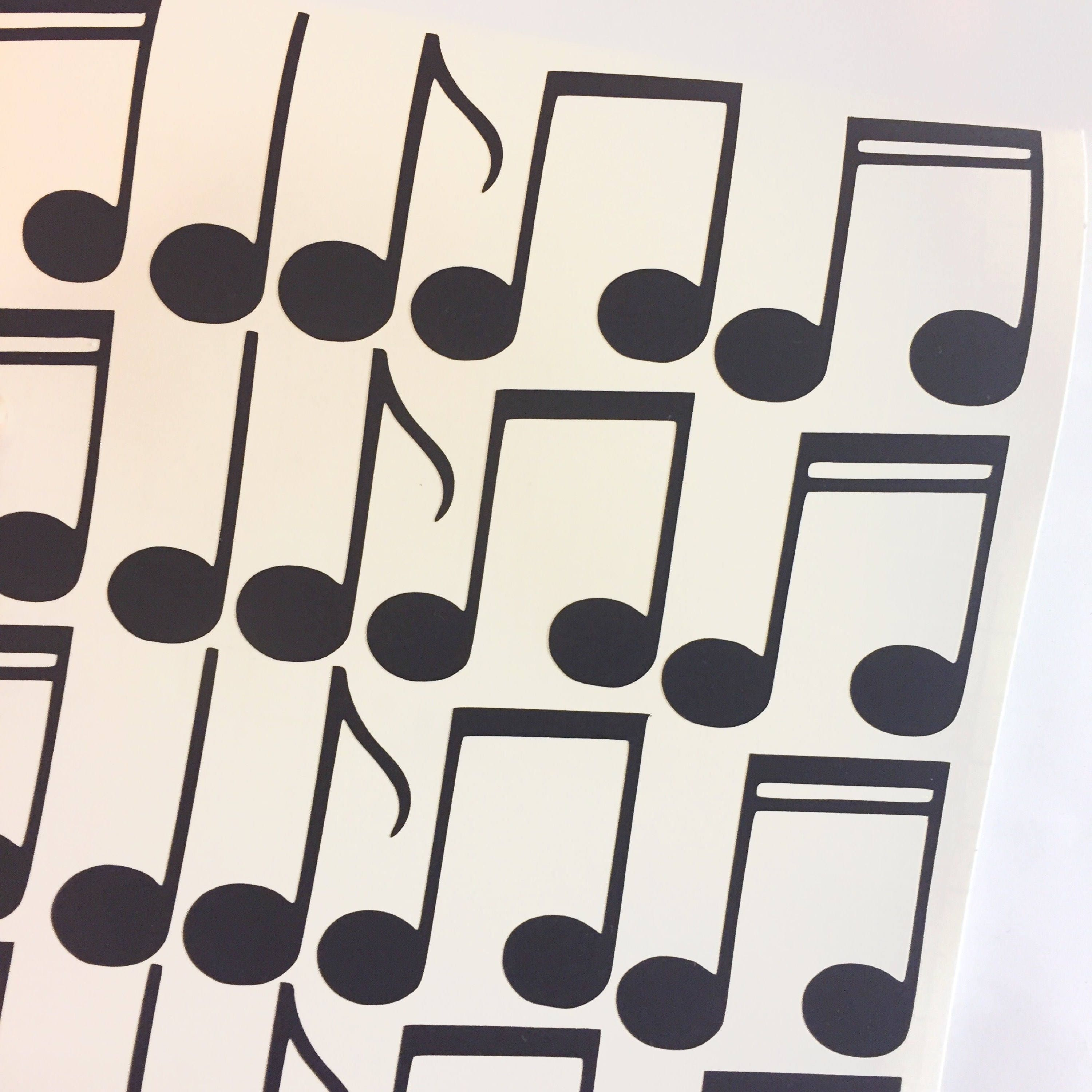 Musical notes wall decal music piano wall sticker kids nursery musical notes wall decal music piano wall sticker kids nursery decor wall pattern amipublicfo Gallery