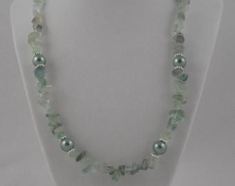 Sea-foam Green Sea Glass Necklace